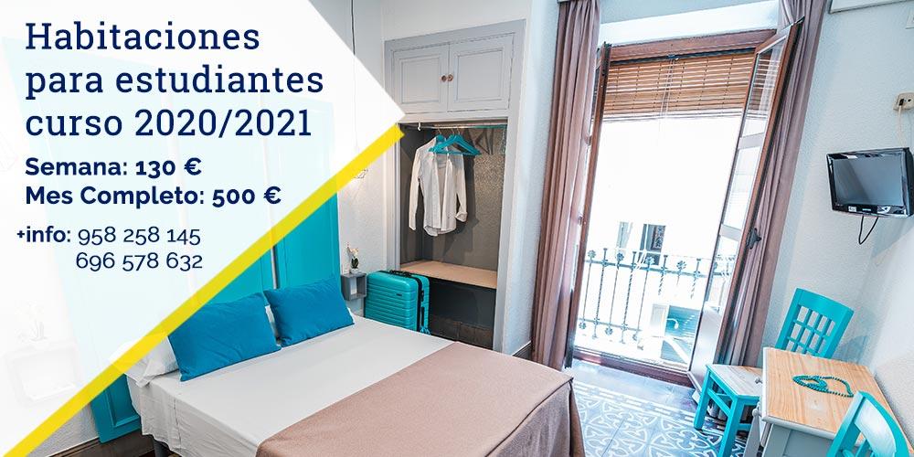 Habitaciones para estudiantes curso 2020/2021 en Granada